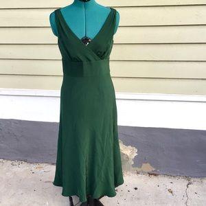 J. Crew Emerald Silk Formal Dress